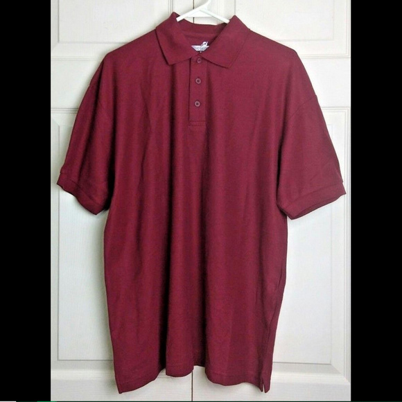 0c645a4e6 Blue Generation Other - Blue Generation Burgundy Polo Shirt Short Sleeve